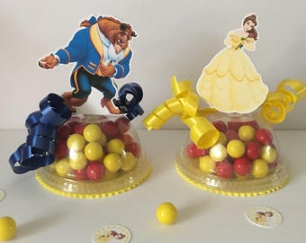 Beauty And The Beast Party Favors Candy Containers Set Of 8 Empty