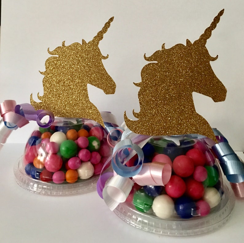Unicorn Party Favor Candy Containers Empty