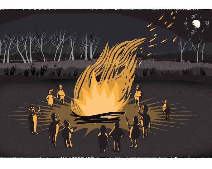 We light huge bonfires in winter
