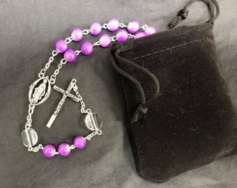 Royal Purple Catholic Rosary