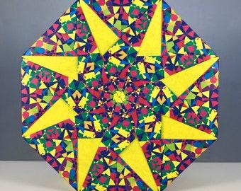 Origami Gift Box: Spanish Tiles I