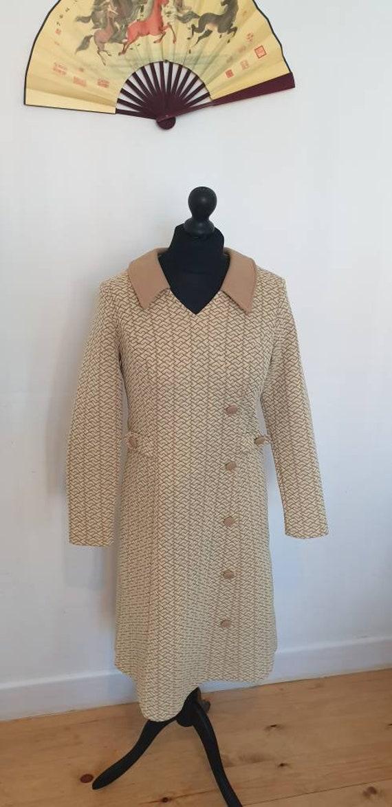 Mod Dress Micro Mini 1960s dress Tailored Yellow a
