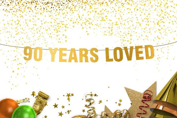 Image result for 90 years loved banner
