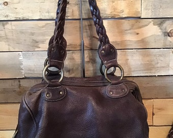 b681cdec51 Incredible vintage distressed leather Roots bag
