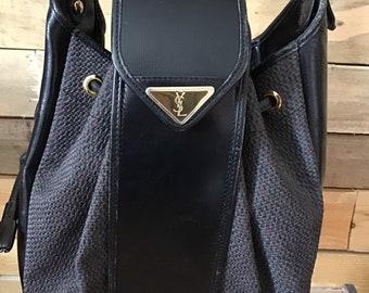 Authentic vintage YSL bucket purse YSL handbag Yves Saint Laurent bag fd9a3b865620a