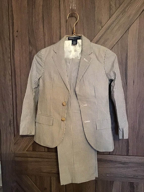 Boys 2 piece Ralph Lauren suit  Ralph Lauren seers
