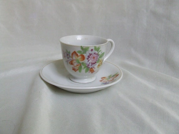 Demitasse tea cup with saucer Made in Occupied Japan