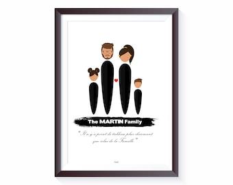 Digital and Paper Custom Family Poster