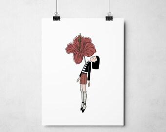 poster romantic flower