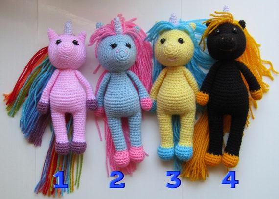 PDF Unicorn Crochet Pattern Usha the Unicorn Crochet   Etsy   407x570