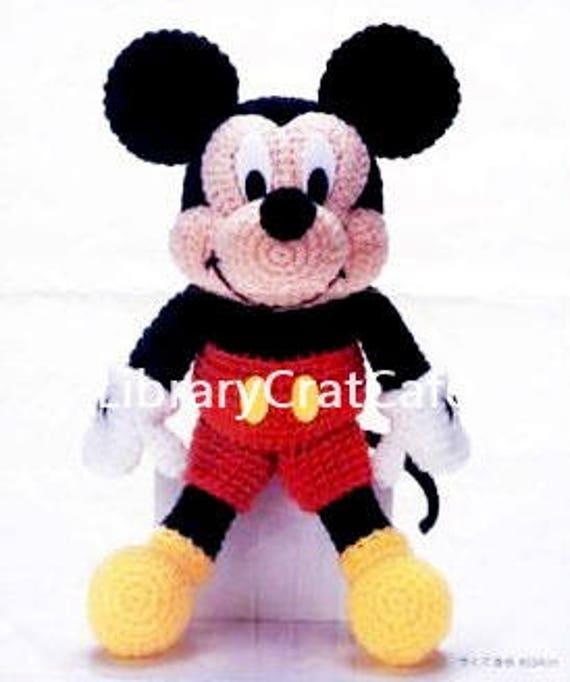 Mickey Mouse Crochet Pattern 14 Tall Dolls Amigurumi Etsy