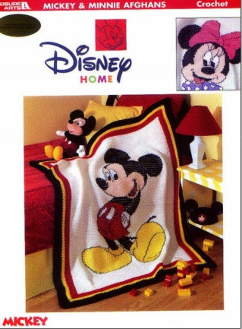 Mickey Mouse And Minnie Mouse Crochet Pattern Crochet Afghan Etsy