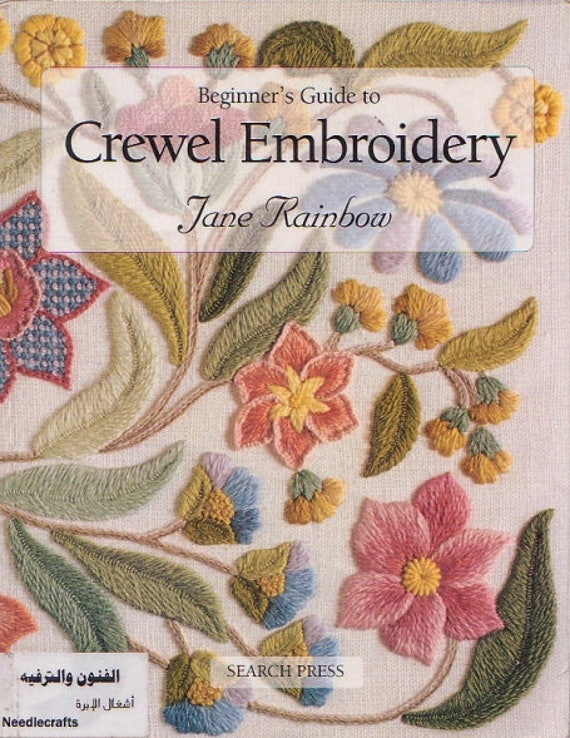 Crewel Embroidery Patterns Flower Embroidery Ebook English Etsy