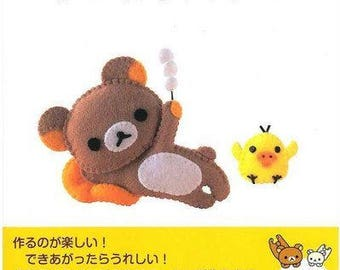Rilakkuma &friends Felt patterns, Animal Felt, felt doll  Patterns, Rilakkuma Crochet Pattern, Ebook / PDF / Pattern / Instant Download