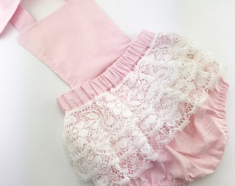 Lace frilly bum romper / playsuit