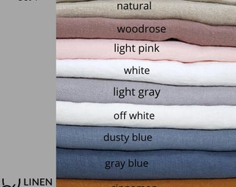Linen fabric samples. Linen fabric swatches. Samples of wide linen fabric. Stone washed fabric samples for bed linen and home textiles