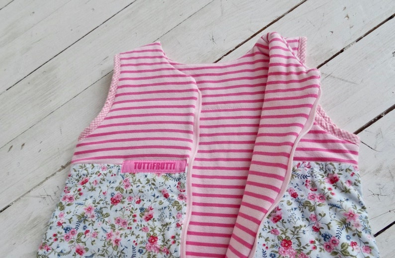 pink flowers Tutti Frutti baby sleeping bag size 62