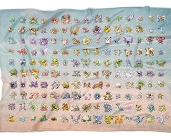 837eb2d1 Original 151 Pokemon Fleece Blanket