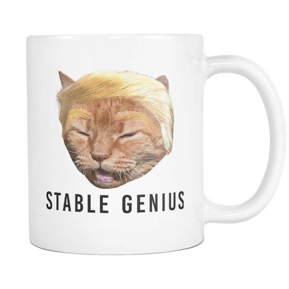 Stabile Genie Trump Cat Meme Kaffeetasse Etsy