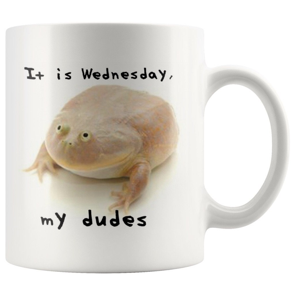 Wednesday Frog Coffee Mug It is Wednesday My Dudes Funny   Etsy