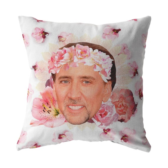 Nicolas cage pillow | Etsy