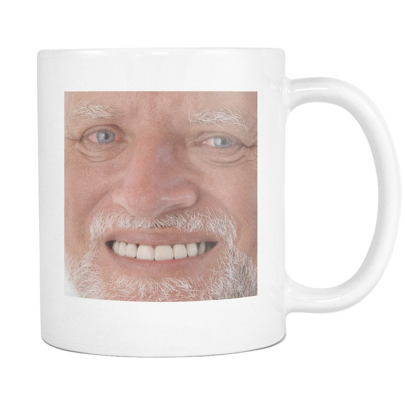 Harold Meme Coffee Mug Funny Hide The Pain Stock Photo Meme Etsy