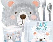 Bear Baby Shower Party Pack