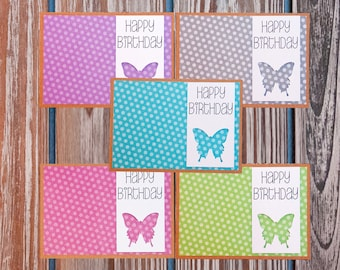 Birthday Cards, Card Set, Happy Birthday Card Set, Happy Birthday, Birthday Card, For Him, For Her, Unique Cards, Handmade, Greeting Cards