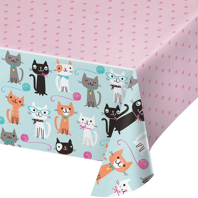 Cat Party Table Cover