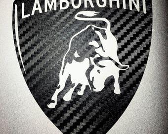Lamborghini logo etsy lamborghini logo vinyl decal voltagebd Gallery