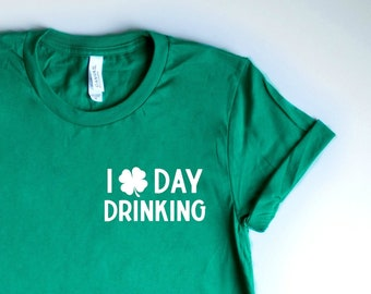 3a717fb70 Day Drinking Shirt, Drunk AF Shirt, Drinks Well With Others Shirt, St  Patricks Day Shirt Women, Shamrock Shirt Irish St Paddys Day Shirt