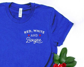 1c00e8b19 Red White and Boujee Shirt, Group Drinking Shirts, Funny 4th of July Shirt  Women America Fourth of July Shirt for Women Funny Drinking Shirt