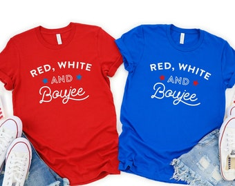 ad939db6e Red White and Boujee Shirt, Drinking Shirts, Funny 4th of July Shirt Women  Fourth of July Shirt America Shirt for Women Funny Drinking Shirt