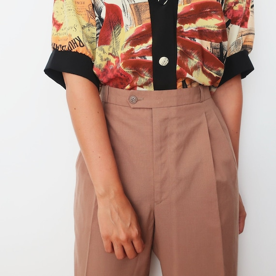 Oversized Wide Leg Trousers, Light Brown Pants, Pleated Trousers, Vintage Clothing, Oversized Style, Women's Pants, Vintage Trousers by Etsy
