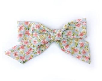 spring hair bow baby hair bows summer hair bow SiahsGoods Siahs hair bows hair bows Floral hair bow