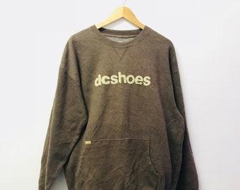 Free Shipping!! Vintage 90's DCshoes Sweatshirt Skateboard Large Size