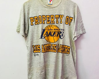 Free shipping!! Vintage 90's Lakers Long Angeles Tshirt L Size