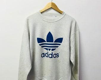 Free shipping!! Vintage 90's Adidas Sweatshirt Big Logo Large Size