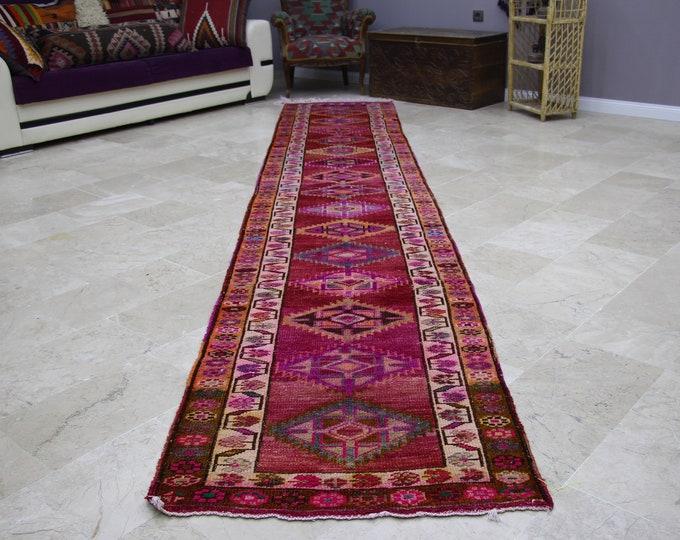Turkish Bohemian Runner Rug Anatolian Home Tribal Rug Authentic Turkish Rug Patchwork 5564 Vintage Handmade Decorative Turkish Rug