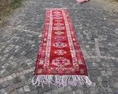 vintage turkish rug, herki runner rug, aztec runner rug, 3 x 12.8 ft. free shipping, decorative rug, anatolian carpet, vintage rug, MB2224