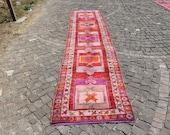 anatolian rug, handknotted vintage rug, Free Shipping 2.9 x 13.6 ft. hallway runner rug, turkish area rug, runner decorative rug, MB2267