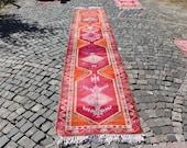 vintage herki rug, decorative rug, 2.8 x 14.6 ft. free shipping, bohemian rug, turkish rug, vintage hallway runner rug, herki rug, MB2240