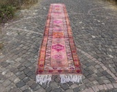 anatolian area runner rug, bohemian runner rug, 2.6 x 17.6 ft. free shipping turkish runner rug, orgnaic wool runner rug, boho rug MB2222