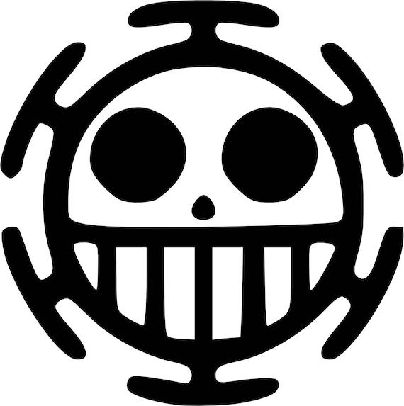 Vinyl Sticker One Piece Trafalgar Law Pirate Symbol