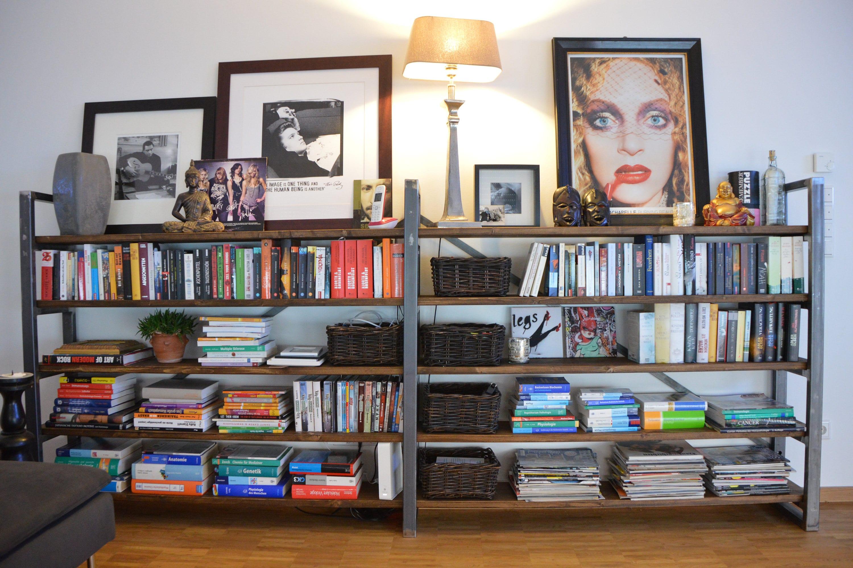 regal industrial loft design b cherregal industriedesign etsy. Black Bedroom Furniture Sets. Home Design Ideas