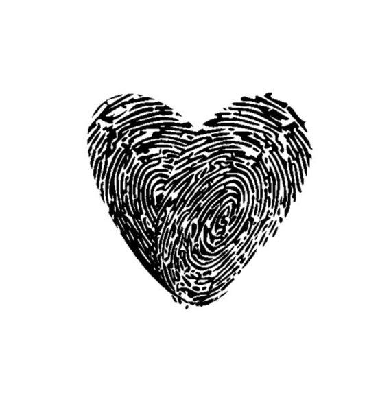 Stempel Fingerabdruck Herz Fingerabdruck Als Etsy
