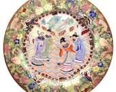 Antique Chinese Qing Superb Unusual Famille Verte Porcelain Plates 2
