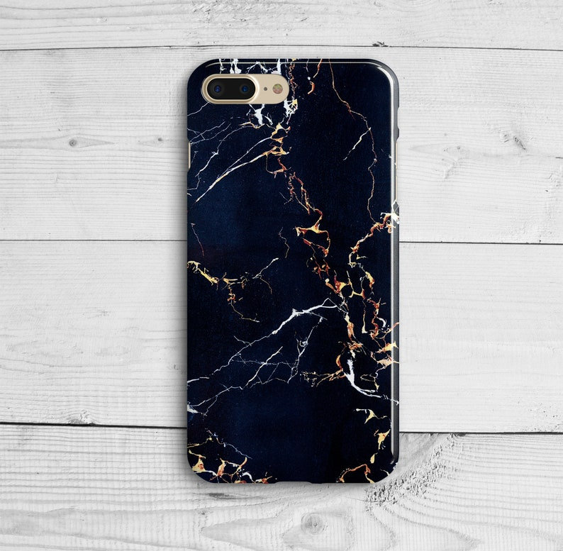 Dark Blue Marble iPhone 7 Plus Case iPhone 8 Plastic Cover  9978028fb3