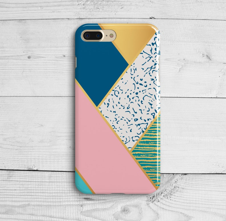 b3874b347db278 Marble Geometry Case iPhone 7 plus 8 Iphone x 10 Pink Blue