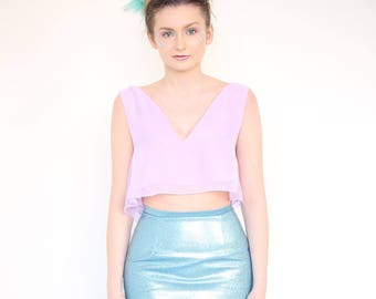 Floaty Chiffon Crop Top